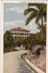 P1957 old postcard view court-house, ancon canal zone panama unused