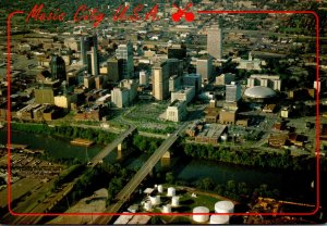 Tennessee Nashville Aerial View Of Music City U S A