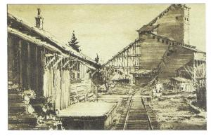 Eckley Miners Village Scene Pennsylvania Postcard