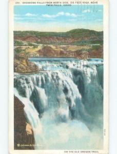 W-Border WATERFALL SCENE Twin Falls Idaho ID E4594