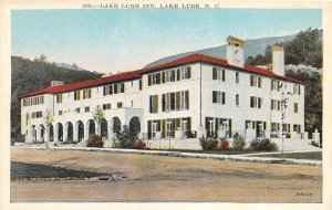 Vintage North Carolina Postcard Rumbling Bald Mountain from the Terrace of Lake Lure Inn Unused