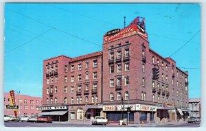 IDAHO FALLS, ID Idaho  Street Scene HOTEL BONNEVILLE 1966 Cars  Postcard