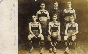 1914 Akron Ohio Real Photo Postcard: Central High Basketball Team, Named