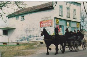 Two Horses Pulling Wagon, CocaCola Sign, Ward's General Store, West Montrose,...