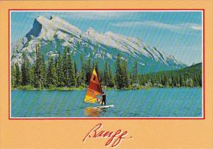 Canada Banff National Park Wind Sirfing On Vermilion Lakes