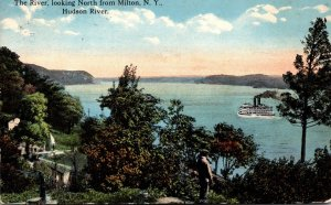 New York Hudson River Looking North From Milton 1915 Curteich