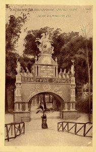 DE - Wilmington. Brandywine Springs Park, Entrance.