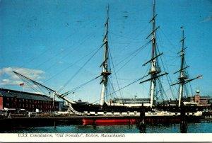 Massachusetts Boston Navy Yard U S S Constitution Old Ironsides 1970