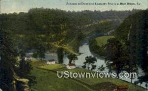Junction of Dicks & Kentucky Rivers High Bridge KY 1915