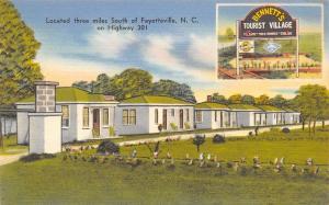 Fayetteville NC~Bennett's Tourist Village~Motel Office~Chicken House~1940 Linen