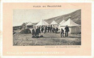 Pilgrim encampment in Palestine Desert Chocolaterie Advertising Postcard   06.08