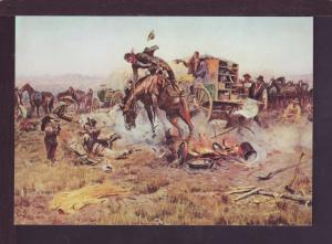 Camp Cook's Troubles Charles Russell Post Card 2881