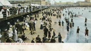 NJ - Atlantic City. Boardwalk and Beach