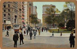 Broadway at City Hall Park, Manhattan, New York City, Early Postcard, Unused
