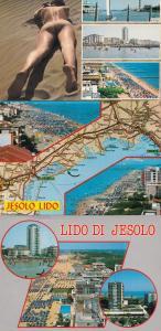 Lido Di Jesolo Sailing Ships Aerial Map 3x Postcard s