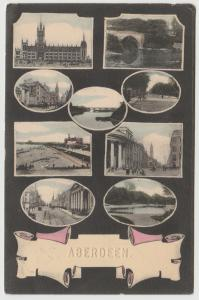 Scotland ABERDEEN Postcard Multi-View 1906 Vintage Postcard