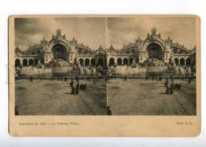 233089 FRANCE PARIS Exposition 1900 Water Tower Stereo view