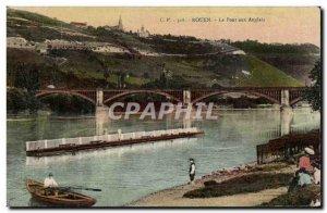 Old Postcard Rouen English to bridge