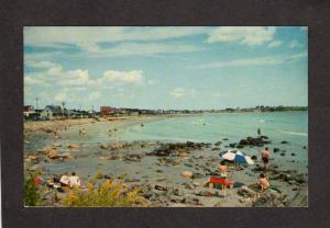 ME Cottages Camps Houses Long Beach York Maine Postcard