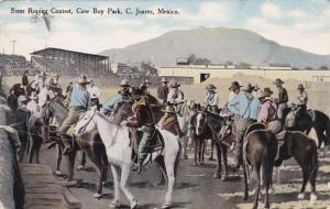 Steer Roping Contest , Cow Boy Park , C. Juarez , Mexico , PU-1913