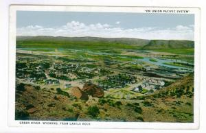 Green River, Wyoming, On Union Pacific System, unused American Art Colored PPC