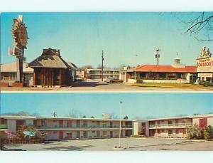 Unused Pre-1980 QUALITY INN MOTEL & HOJO RESTAURANT Statesboro GA u0858