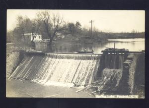 RPPC PENFIELD NEW YORK SPRING LAKE DAM WATERFALL VINTAGE REAL PHOTO POSTCARD
