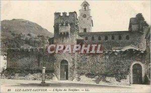 Postcard Old Luz Saint Sauveur Church Templar
