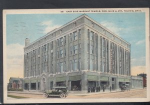 America Postcard - East Side Masonic Temple, Toledo, Ohio  HM462