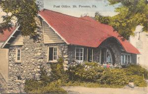 Mt Pocono Pennsylvania Post Office Street View Antique Postcard K55761