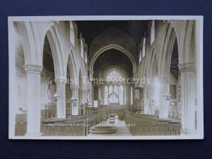 Norfolk HEYDON CHURCH Interior c1920's RP Postcard