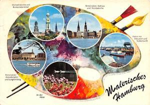 Hamburg Germany An der Alster, Binnenalster, Rathaus und Nicolaikirche Hambur...
