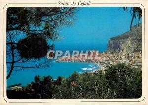 Modern Postcard General view Cefalu