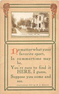 F97/ Ord Nebraska RPPC Postcard c1910 Residence Street Homes 3