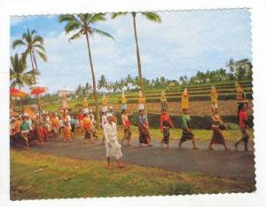 Balinese People walking to temple, 60-70s