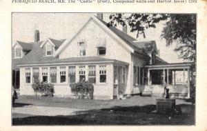 Pemaquid Beach Maine Guernsey Villa Street View Antique Postcard K71288