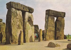 STONEHENGE , Wiltshire , England , 1972 ; Two Sarsen Trilithons & Uprights of...