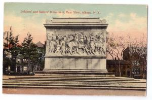 Albany NY Soldiers and Sailors Monument 1913 Postcard