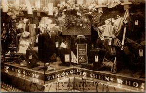 Los Angeles~Bauer Clothing Store~Men Who Know~Easter Display Window~c1910 RPPC