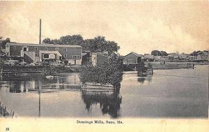 Saco ME Deering Mills River Buildings Postcard