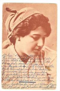 Female Head portrait, artist pu-1904