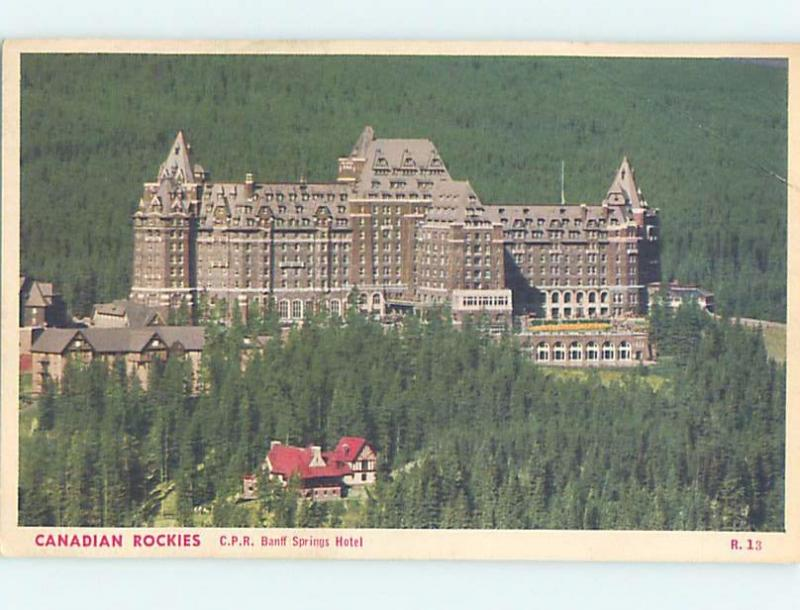 W-Border CPR STAMPS SPRINGS HOTEL Banff Alberta AB B5102