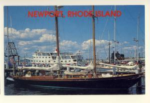 Newport, Rhode Island/RI Postcard, Newport Harbor, Black Sloop