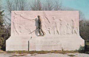 VINCENNES, Indiana, 1940s-Present; Abraham Lincoln Monument On Banks Of Wabas...