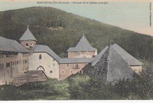 RONCESVALLES , Navarra , Spain , 00-10s ; Fachada de la Iglesia principal