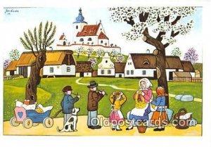 Artist Josef Lada J Lady Unused