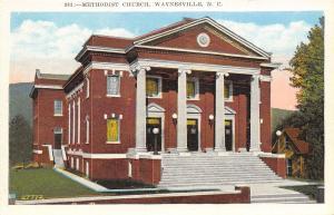 Waynesville North Carolina~Methodist Church~House Down Below~1920s Postcard
