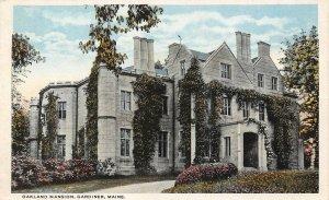 LPS54 Gardiner Maine Oakland Mansion Vintage Postcard