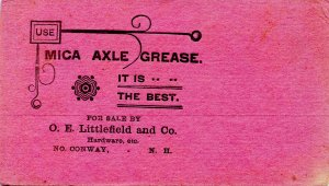 Ink Blotter/Advertisement - Mica Axle Grease