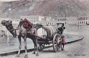 Yemen Aden Typical Water Cart and Camel
